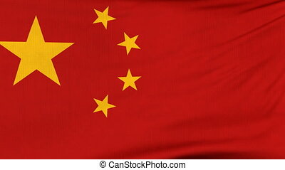 National flag of China flying on the wind - National flag of...