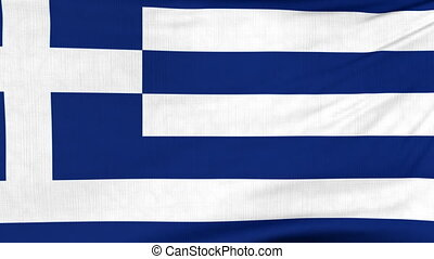 National flag of Greece flying on the wind