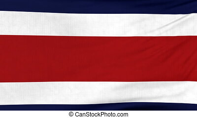 National flag of Costa Rica flying on the wind - National...