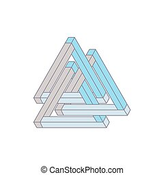 Optical Illusion, impossible geometry. Vector Illustration...