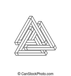 Optical Illusion, impossible geometry Vector Illustration...