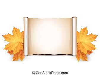 Autumn background with place for text.