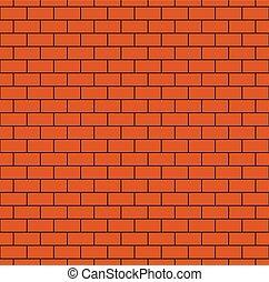 Russet Brick Wall Seamless Pattern - Russet brick wall...