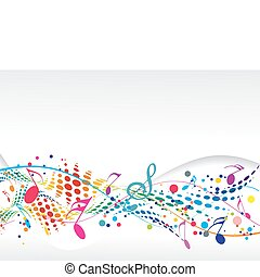 Music notes - abstract music notes design for music...