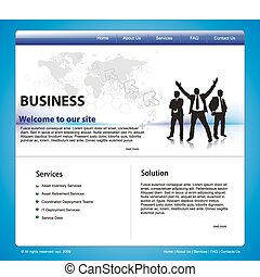 Web site design template, vector ilustration