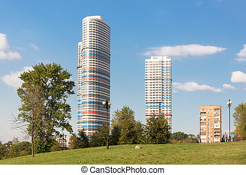 """Tricolor"" apartments in Moscow - MOSCOW - SEPTEMBER 14,..."