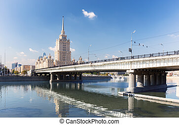 Novoarbatsky Bridge in Moscow