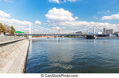 Krymsky Bridge across Moskva river - Krymsky Bridge and...