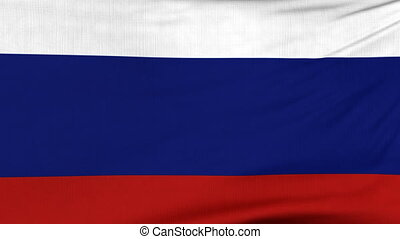 National flag of Russia flying on the wind - National flag...