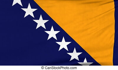 National flag of BiH flying on the wind - National flag of...