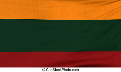 National flag of Lithuania flying on the wind - National...