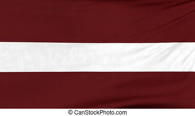 National flag of Latvia flying on the wind - National flag...