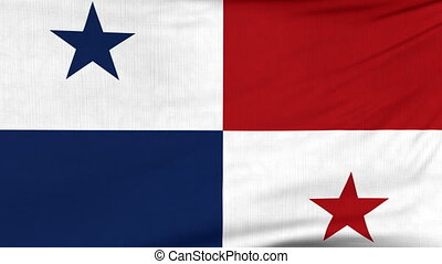 National flag of Panama flying on the wind - National flag...