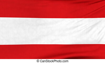 National flag of Austria flying on the wind - National flag...