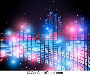 music equalizer vector - Illustration of music equalizer bar...