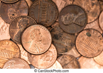 Pennies - A bunch of pennies