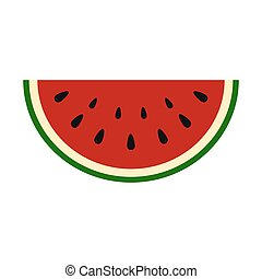 Slice of juicy summer watermelon on a white background....