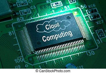 cloud computing concept - cloud computing chip