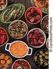 Mediterranean clod buffet food - Mediterranean cold buffet...