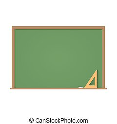 Blackboard with stains from chalk