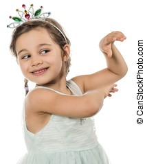 Little Princess Dancing - Portrait of a little adorable girl...