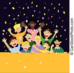 Happy Childs Vector - Vector illustration of happy childs in...