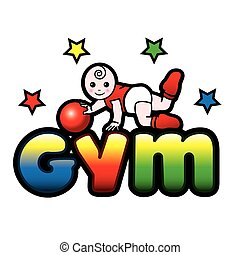 Baby gym, toddler exercise - Baby gym, todler exercise with...
