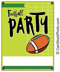 American Football Party Template Illustration - A blank...