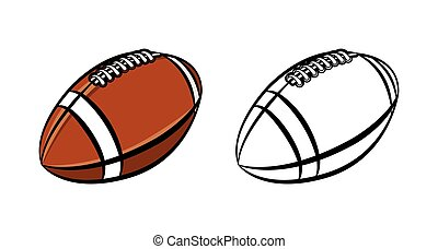 American Football Ball Illustration - An illustration of a...