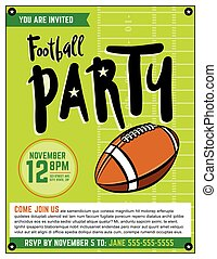 American Football Party Template Illustration - An American...