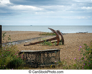 Rusty Anchors on the Beach at Aldeburgh