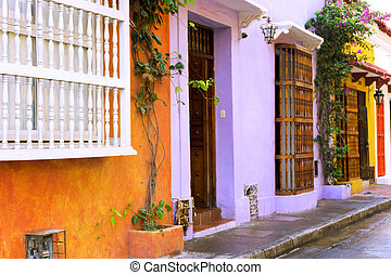Colorful Cartagena Buildings
