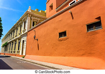 Orange Colonial Architecture - Orange and yellow colonial...