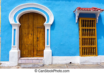 Light Blue Colonial Architecture - Light blue colonial...