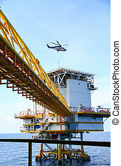 Offshore construction platform for production oil and gas,...