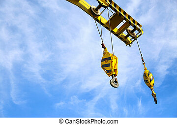 Crane construction on Oil and Rig platform for support heavy...