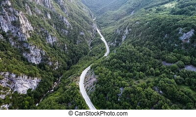 serpentine mountain road - Mountain pass, serpentine...