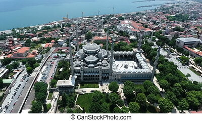 Istanbul Blue Mosque - Istanbul from sky- Blue Mosque