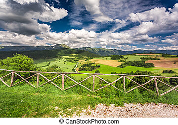 Beautiful mountain view in Umbria, Italy