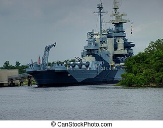 Battleship North Carolina in port and open for tours