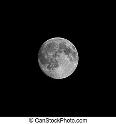 Full moon seen with telescope - Full moon seen with an...