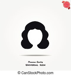 Woman hair style icon - Woman hair style vector icon Female...