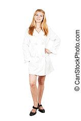 Pretty girl in cloak