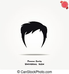 Woman hair style icon - Woman hair style vector icon. Female...