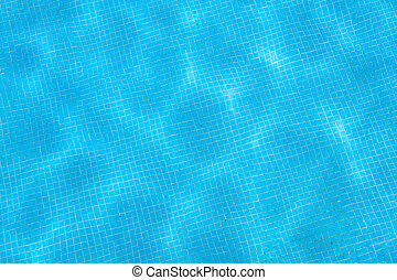 Swimming pool blue tiled surface texture