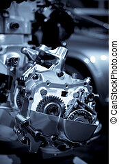 automotive engineering - cross section of engineering parts...