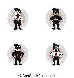 businessman full body illustration design collection