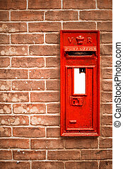 victorian mailbox - victorian mail box abstract against a...