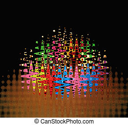 Colorful Background on Black