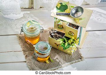 Sweet linden honey